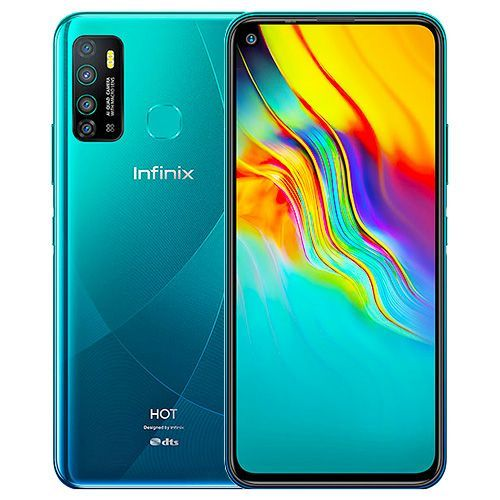 "product_image_name-Infinix-Hot 9 (X655C) 6.6"" HD+, 3GB RAM + 64GB ROM, Android 10, 16MP AI Quad Camera, 5000mAh, 4G, Fingerprint + Face ID - Cyan-1"