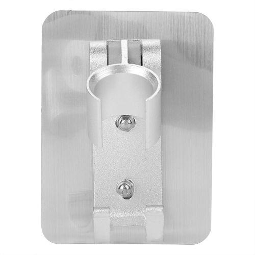 Bathroom Accessories Sets Adjustable Aluminum Silver Shower Head Holder Bracket Base With Hooks Bathroom Shelf Rack Washroom