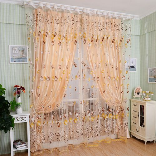 Luxury Style Curtains Curtains Window Sheer Voile Tulip Hom