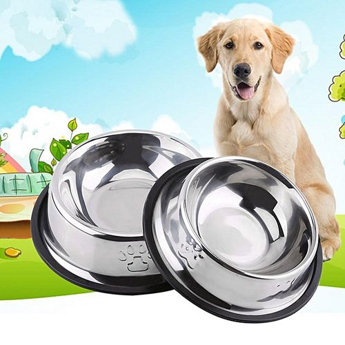 Anti Slip Botom Pet Food Water Bowl Dish Feeder Feeding Dish(21.5cm)