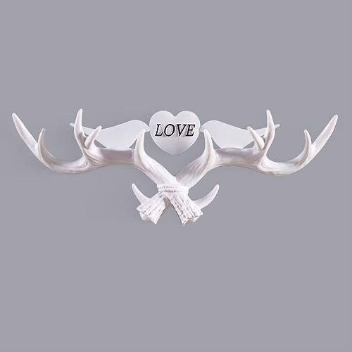 Deer Antlers Wall Hook Animal Hanger Holder Coat Hat Hanging Rack Hook 51*18*8cm