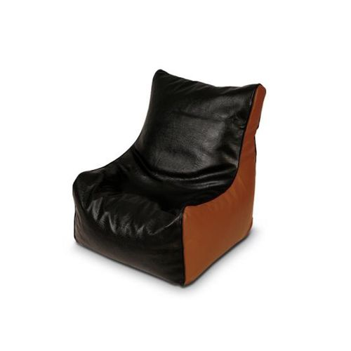 Adult Size Leather Bean Bag - Brown/Black (Delivery To Lagos Only)