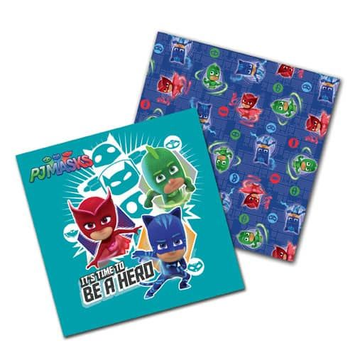 PJ Mask Party Paper Napkins -16 In A Pack