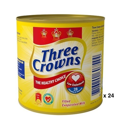 Three Crowns Evaporated Milk 160g X 24