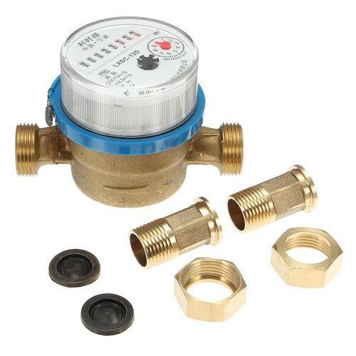 """15mm 1/2"""" Cold Water Meter Flow For House Garden Measuring Meter Connectors"""