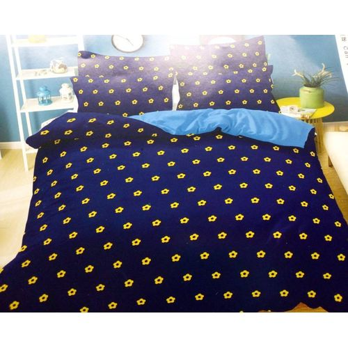 Bedspreads With 4 Pillow Cases- Blue/Yellow