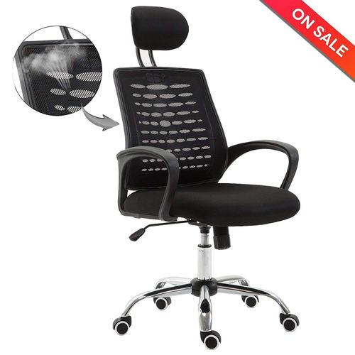 Adjustable High-Back Mesh Task Executive Chair With Headrest Arm Rest