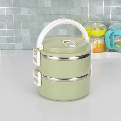 1/2/3/4 Layers Stainless Steel Thermal Bento Insulated Food Container Lunch Box #2 Layers