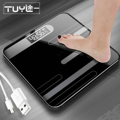 180kg Digital Scale LCD Temperature Display High Precision Tempered Glass Surface Body Weight Scale( )