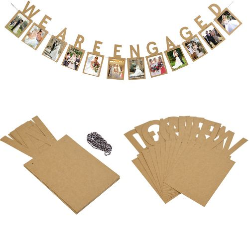 We Are Engaged Photo Banner Photo Wall Wedding Party Home Shop Decorations