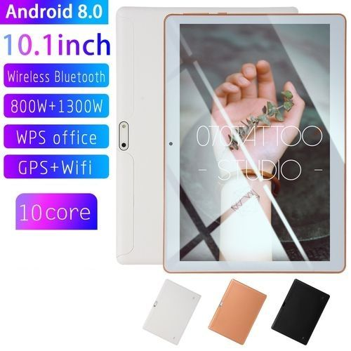 10.1'' 4G+64GB Android 7.0 White Tablet PC HD Bluetooth Double 2 SIM Octa Core Camera