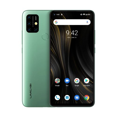 Power 3 4GB+64GB Quad Back Cameras 6150mAh Battery 6.53 Inch Full Screen Android 10 4G Smartphone - Green