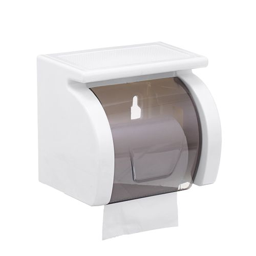 Toilet Paper Roll Holder Bathroom Tissue Box Dispenser Waterproof Easy Install