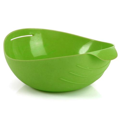 Kitchen Microwave Oven Steamer Folding Silicone Bowl Baking Fish Steam Roaster Green