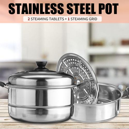 Stainless Steel Steamer Shua Three-layer Soup Pot