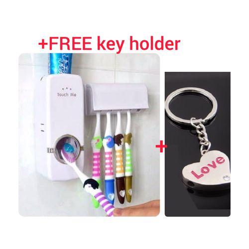 Portable Toothbrush Holder Toothpaste Dispenser