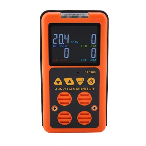 SMART SENSOR Gas Leak Tester ST8900 Multi-gas Detector For CO/O2/H2S/LEL Rechargeable Gas Analyzing Meter Tools Alarm Detector
