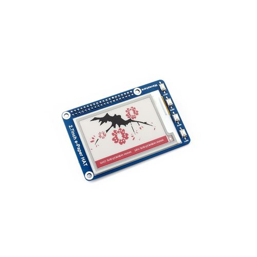 2.7 Inch E-paper Display HAT(B) Module 264x176 Resolution 3.3v E-ink Electronic Paper Screen With Embedded Controller Support Red Black And White Three-color Display Compatible With Raspberry Pi 2B 3B Zero Zero W,SPI Interface