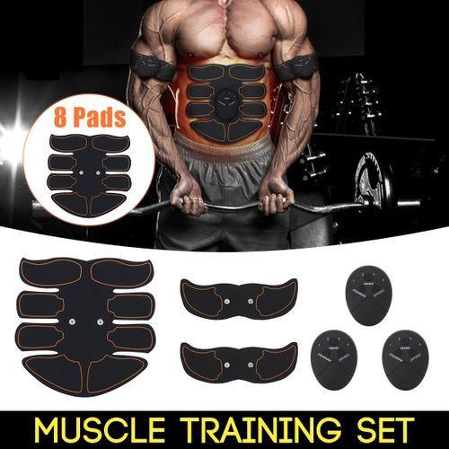 Smart Abs Stimulator Training Fitness Gear Muscle Abdominal Toning Belt Trainer - Yellow Black