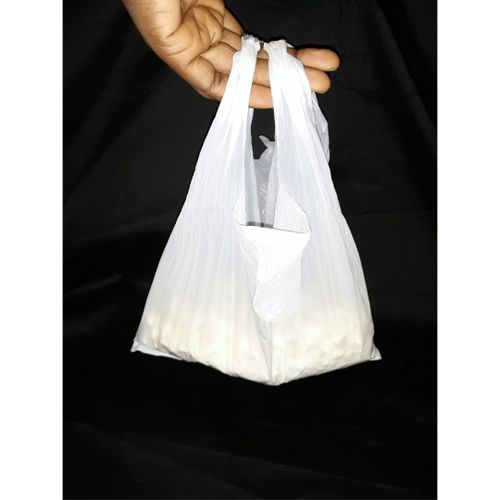 500 PCS Snacks Nylon Bag- Packaging Nylon Flier - White