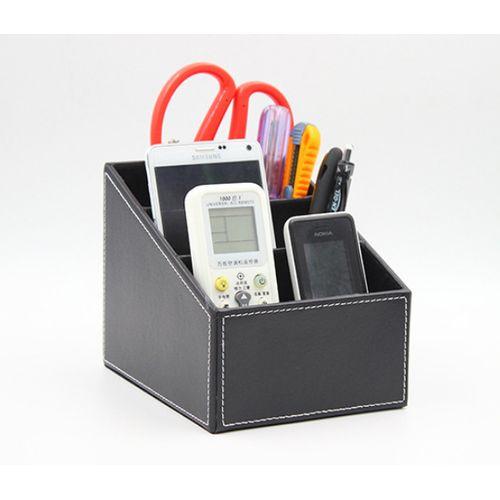 Multifunctional Desktop Leather Stationery Storage Box