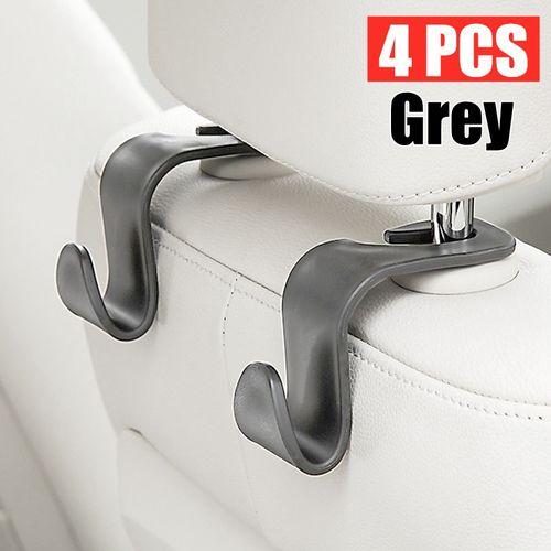 4pcs Clips Car Truck Auto Headrest Seat Vehicle Universal Hanger Purse Coat Bag Back Seat Holder Headrest Organizer Hooks