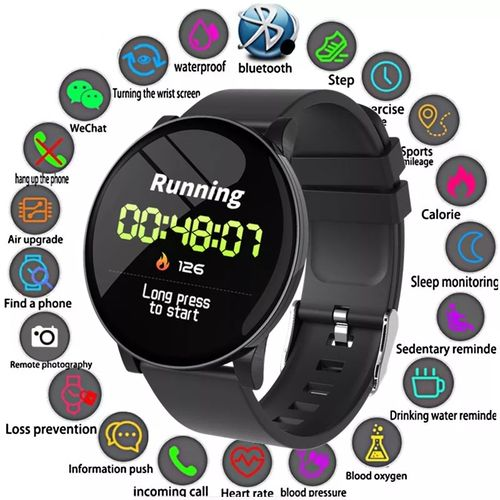 Smart Watch,With Fitness Tracker,Blood Pressure Monitor,ETC