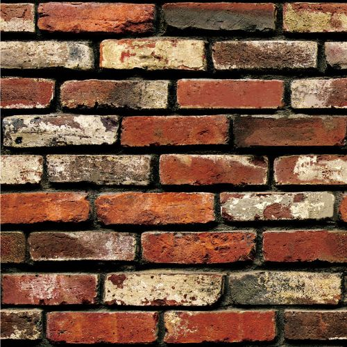 Watermalend 3D Wall Paper Brick Stone Rustic Effect Self-adhesive Wall Sticker Home Decor
