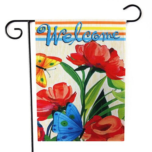 Lodaon Hellow Spring Garden Flag Indoor Outdoor Home Decor Letters Flowers Flag