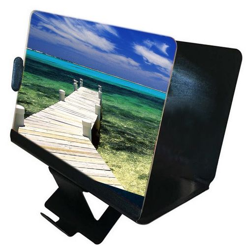 8 Inch 3D Enlarge Magnifier HD Screen Amplifier Portable Folding Stand