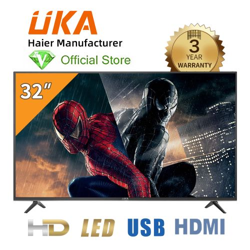 "UKA 32"" LED HD TV - Haier - 3 Year Warranty - LED32K8800 - Black"