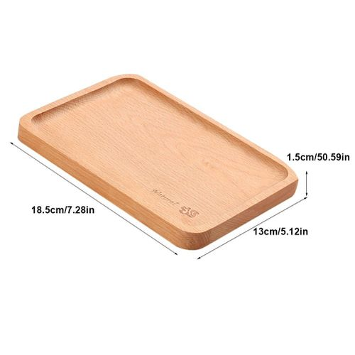Bamboo Tea Serving Tray, Ymiko Natural Wooden Plate Food Snack Tea Dessert Serving Tray