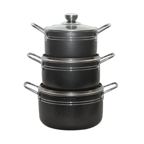 Non-stick Pots 3pc - Black