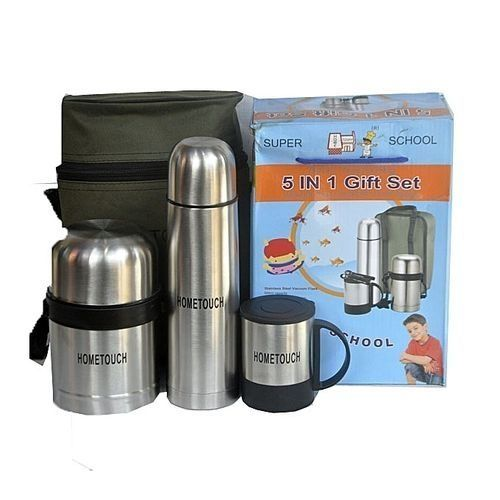 HOME TOUCH Stainless Steel Food Flask Set - 5 In 1 Set