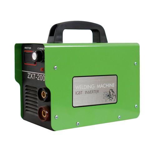 ZX7-200 Mini DC Inverter ARC Welder 220V IGBT Portable Welding Machine 20-120A Green
