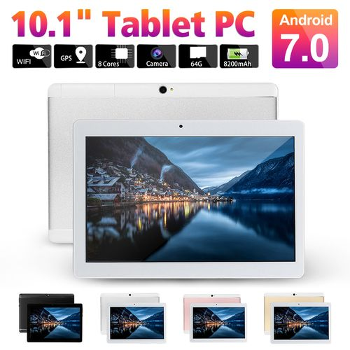 Tablet PC 10.1'' 4GB RAM+64GB ROM Android 7.0 Octa 8 Core HD WIFI Bluetooth 2 SIM 4G