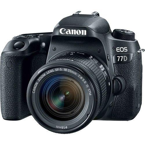 EOS 77D DSLR Camera With IS STM Kit - Black