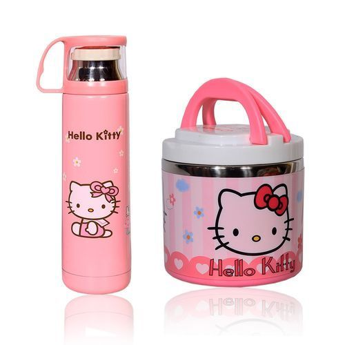 Kid's Character Food Flask &Water Flask - Pink