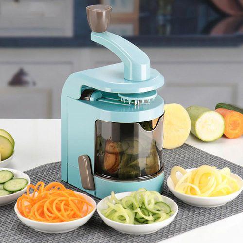 Multifunction Spiral Vegetable Slicer With 4 Rotating Blades Fruit Potato Cucumber Carrot Cutter Adjustable Peeler Kitchen Tools