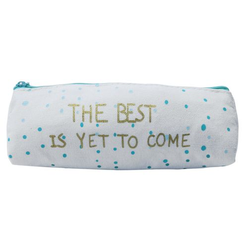 Canvas Pencil Case Large Capacity Pen Box Stationery Pouch Makeup Cosmetic Bag #dot
