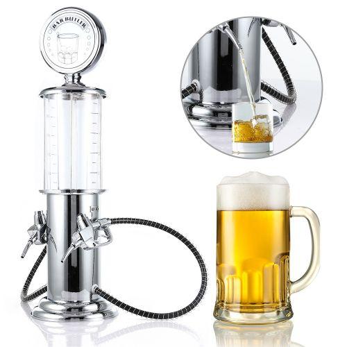 Double Gun Beer Dispenser Machine Liquor Pump - Clear White