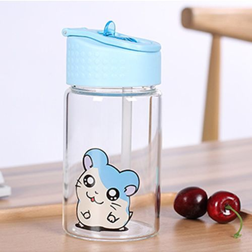 Glass Water Bottle Protective With Pipette Leak-Proof Caps Sleek Durable Cup