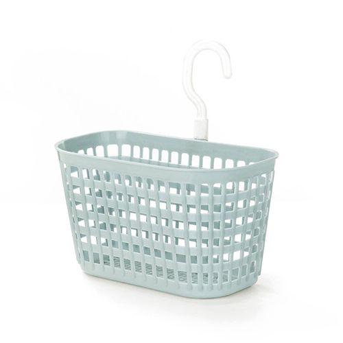 Plastic Bathroom Hanging Basket Wall Wash Drain Storage Bath