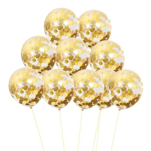 20pcs Confetti Balloon 12inch 2.8g/pcs Sequin Balloon- Gold
