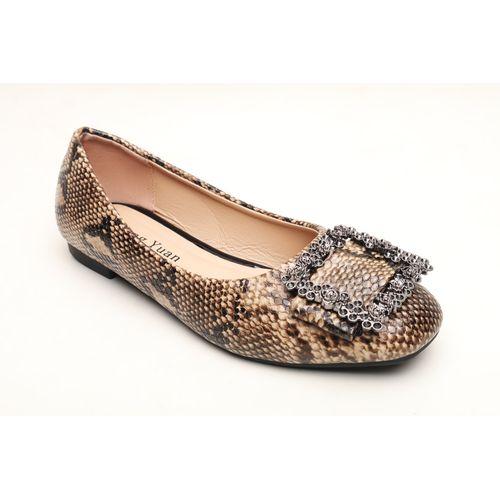 leopard skin flat shoes