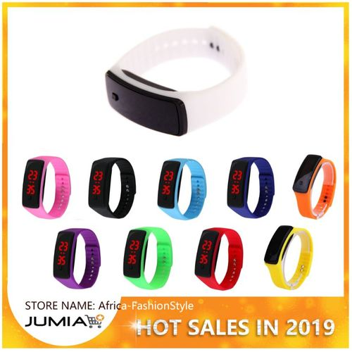 Super Lightweight LED Touch Sport Running Soft Silicone Smart Wristaband-Multi