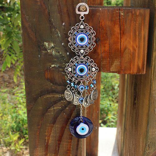 Turkish Blue Evil Eye Hamsa Hand Elephant Amulet Wall Protection Hanging Lucky