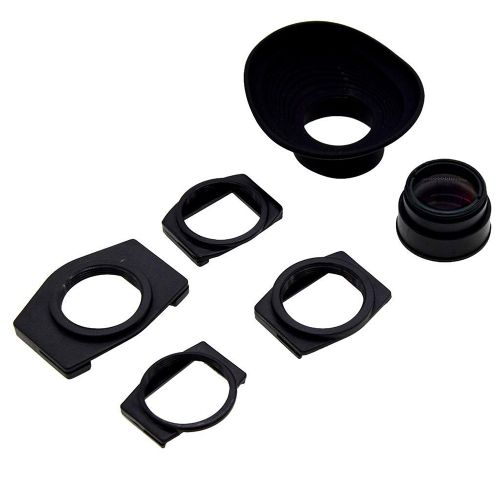 1.08X-1.62X Zoom Viewfinder Eyepiece Eyecup Magnifier For Sony A350 A550 A700 A900 A7D Nikon Pentax Olympus Cameras