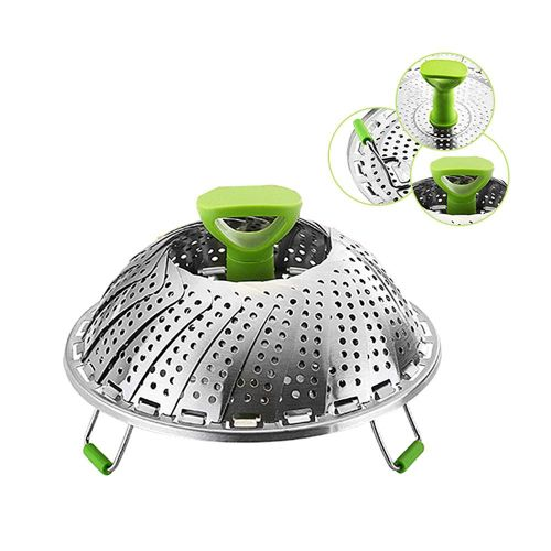 Vegetable Steamer Basket Stainless Steel Folding Steamer Fits