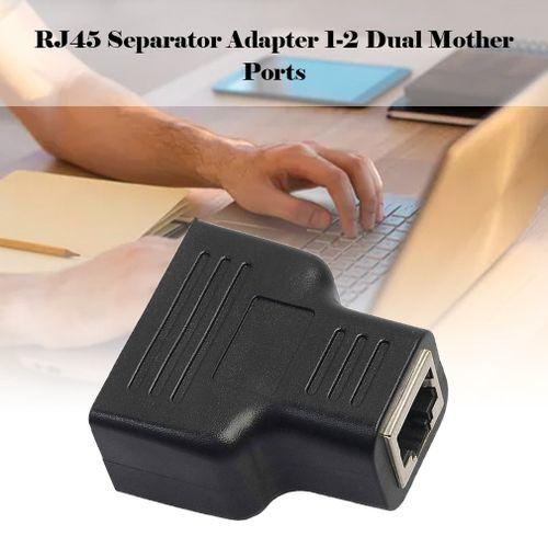 RJ45 Splitter Adapter 1 To 2 Ways Dual Female Port CAT5/6/7 LAN Ethernet